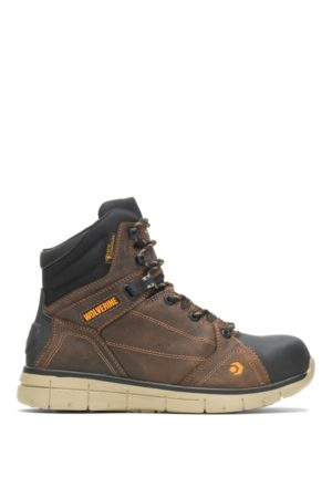"""Wolverine Men's RIGGER EPX CARBONMAX SAFETY TOE 6"""" BOOT Summer , Size 7.5 Extra Wide Width"""