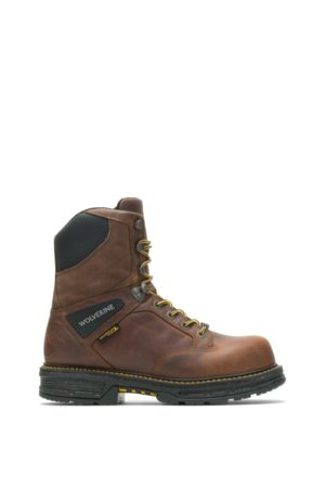 """Wolverine Hellcat UltraSpring 8"""" Work Boot Tobacco, Size 7.5 Extra Wide Width"""