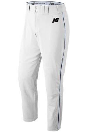 New Balance Men's Adversary 2 Baseball Piped Pant Athletic - White/Navy (BMP216WN)
