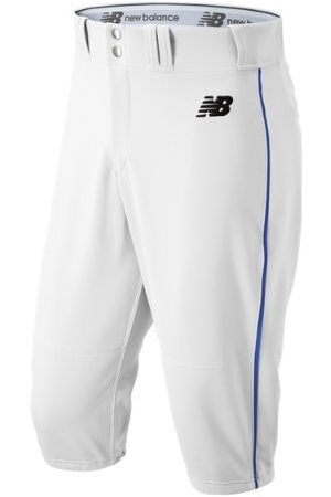 New Balance Men's Adversary 2 Baseball Piped Knicker Athletic - White/Blue (BMP240WB)