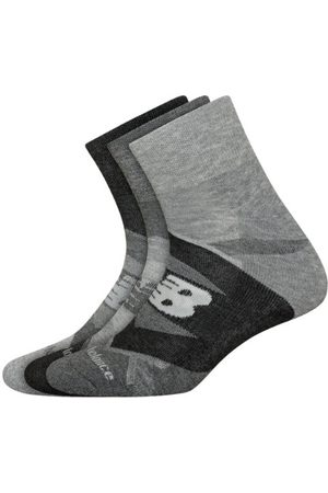 New Balance Unisex Performance Cushion Quarter Socks 3 Pack - Grey (LAS00933GR)