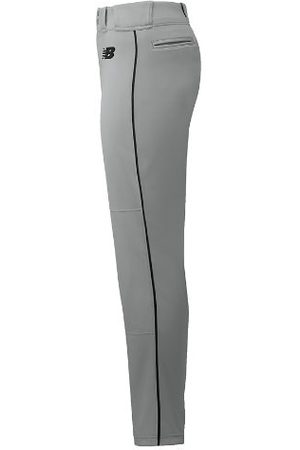New Balance Kids' Essential Baseball Piped Pant - Grey/Black (BBP016GBK)