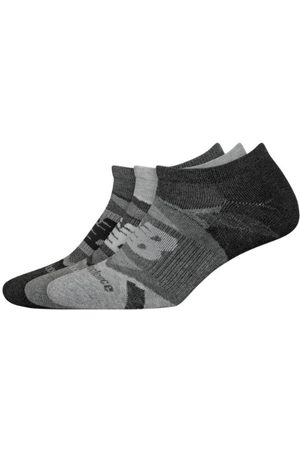 New Balance Unisex Performance Cushion No Show Socks 3 Pack - Grey (LAS00823GR)