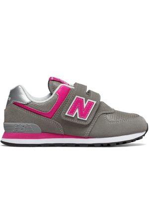 New Balance Kids' 574 Core - Grey/Pink (YV574GP)