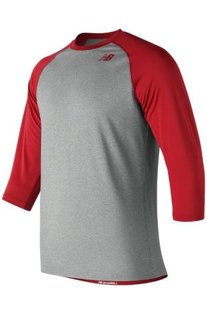 New Balance Kids' Youth 3 Qtr Raglan - Red (TMYT601TRE)