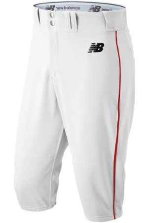 New Balance Men's Adversary 2 Baseball Piped Knicker Athletic - White/Red (BMP240WRD)