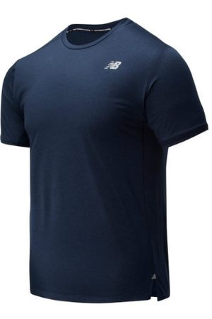 New Balance Men's Impact Run Short Sleeve - Black (MT01234ECR)