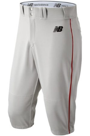 New Balance Men's Adversary 2 Baseball Piped Knicker Athletic - Grey/Red (BMP240GRD)