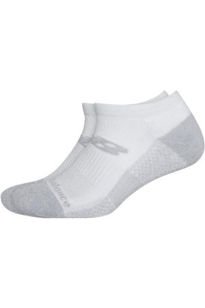 New Balance Unisex Cooling Cushion Performance Lowcut Socks 2 Pair - White (LAS04172WT)