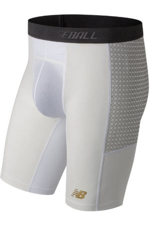 New Balance Men's 4040 Compression Slider Short - White (TMMS650WT)