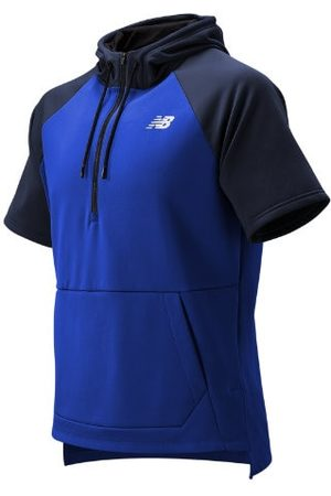New Balance Men's BP Fleece Hoodie - Blue (MT93714TRY)