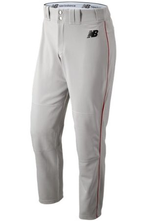 New Balance Men's Adversary 2 Baseball Piped Pant Athletic - Grey/Red (BMP216GRD)