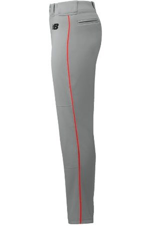 New Balance Men's Adversary 2 Baseball Piped Pant Tapered - Grey/Red (BMP316GRD)