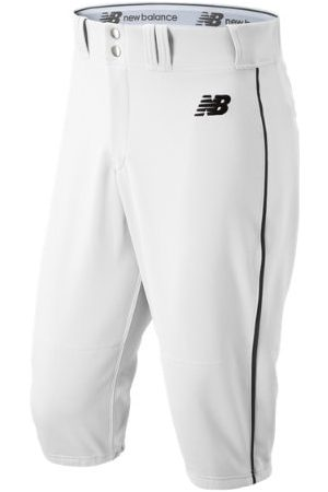 New Balance Men's Adversary 2 Baseball Piped Knicker Athletic - White/Black (BMP240WK)