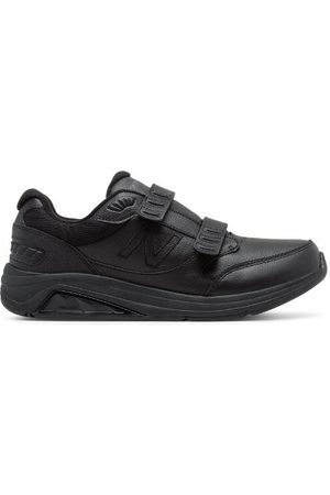 New Balance Men's Hook and Loop Leather 928v3 - Black (MW928HB3)