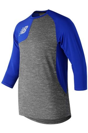 New Balance Men's Asym 2.0 Right 3/4 Sleeve - Blue (MT83704RTRY)