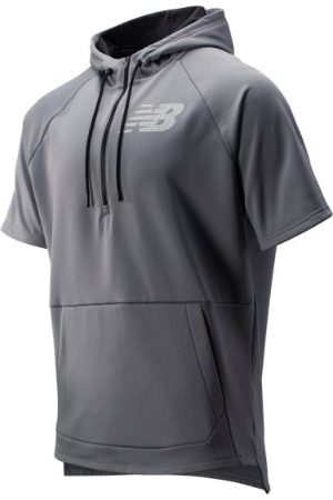 New Balance Men's BP Fleece Hoodie - Grey (MT93714GNM)