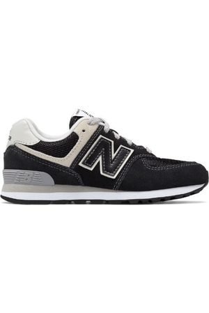 New Balance Boys School Shoes - Kids' 574 Core - Black/Grey (GC574GK)