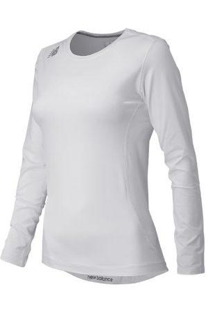 New Balance Women T-shirts - Women's NB Long Sleeve Compression Top - White (TMWT708WT)
