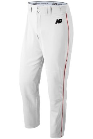 New Balance Men's Adversary 2 Baseball Piped Pant Athletic - White/Red (BMP216WRD)