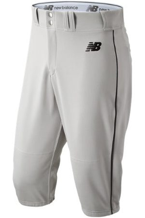 New Balance Men's Adversary 2 Baseball Piped Knicker Athletic - Grey/Black (BMP240GBK)