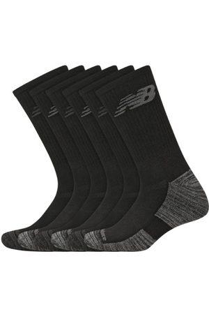 New Balance Unisex Performance Cushion Crew Socks 6 Pack - Black (LAS01866BK)