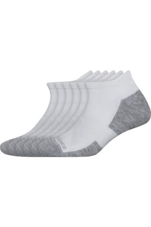 New Balance Unisex Performance Cushion Low Cut Tab Socks 6 Pack - White (LAS01656WT)