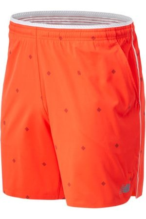 New Balance Men's Printed Tournament Short - Red (MS03407NEF)