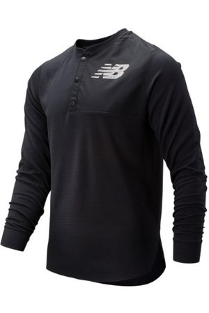 New Balance Men's ASYM Baseball Henley - Black (MT93712BK)