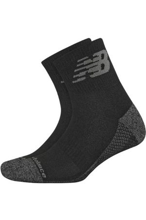 New Balance Sports Equipment - Unisex Cooling Cushion Performance Quarter Socks 2 Pair - Black (LAS00322BK)