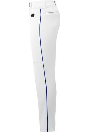 New Balance Men's Adversary 2 Baseball Piped Pant Tapered - White/Blue (BMP316WB)
