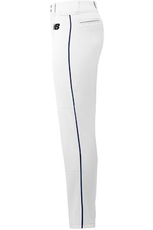 New Balance Men's Adversary 2 Baseball Piped Pant Tapered - White/Navy (BMP316WN)