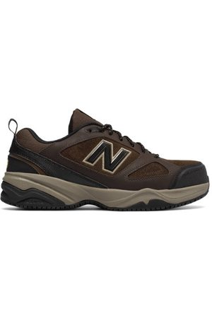 New Balance Men's Steel Toe 627v2 - Brown/Black (MID627O2)
