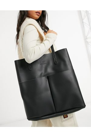 Claudia Canova Unlined two pocket tote bag with removable pouch in