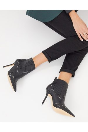 Aldo Kapone heeled ankle boot with studding in