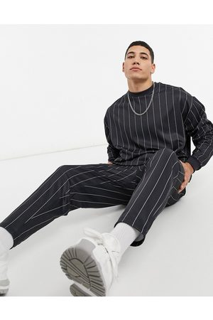 ASOS Two-piece smart tapered sweatpants in stripe