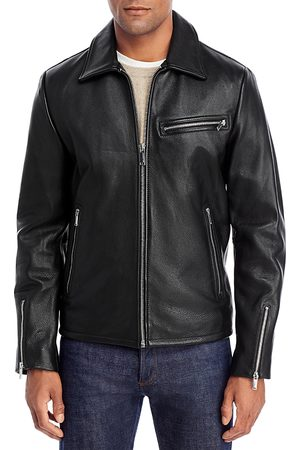 Karl Lagerfeld Men Leather Jackets - Leather Motocross Jacket