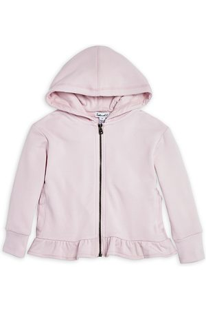 Splendid Girls' Ruffle Hem Zip Hoodie, Little Kid - 100% Exclusive