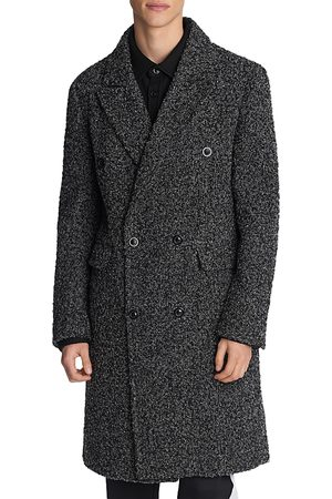 Karl Lagerfeld Boucle Double Breasted Coat with Removable Vest Liner