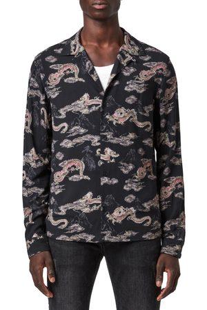 AllSaints Men's Hongshan Dragon Shirt