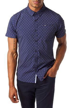 7 Diamonds Men's Slow Blues Slim Fit Sport Shirt