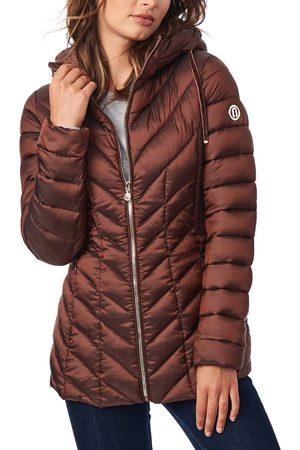 Bernardo Women's Ecoplume(TM) Hooded Packable Puffer Jacket