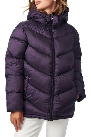 Bernardo Women's Chevron Quilted Water Resistant Puffer Coat