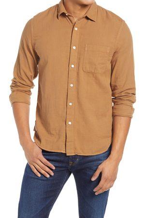 KATO Men's Slim Fit Double Gauze Organic Cotton Button-Up Shirt
