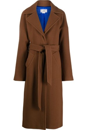 Victoria Victoria Beckham Women Trench Coats - Belted mid-length coat