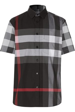 Burberry Checked short-sleeve shirt - Grey
