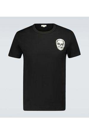 Alexander McQueen Skull embroidered cotton T-shirt