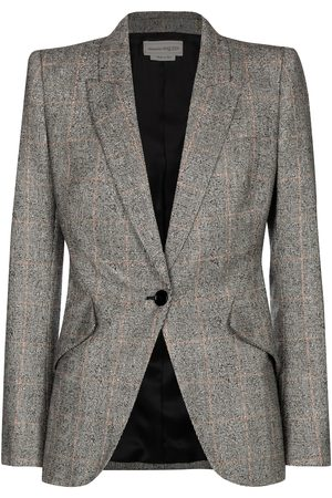 Alexander McQueen Checked stretch-wool blazer