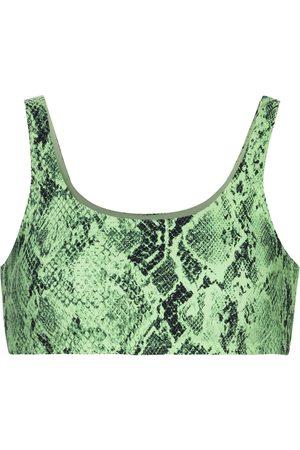 alo Vapor snake-print sports bra