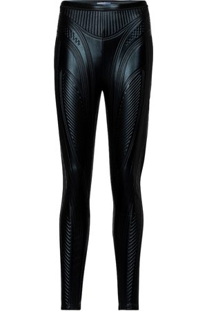 MUGLER Embossed scuba leggings